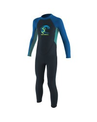 Гидрокостюм детский длинный O'Neill TODDLER REACTOR-2 2MM BACK ZIP FULL SLATE/LIGHTAQUA/OCEAN S19