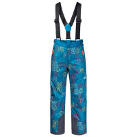 Брюки Jack Wolfskin GREAT SNOW PRINTED PANTS KIDS Dark Cobalt All Over (2021)