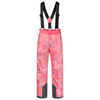 Брюки Jack Wolfskin GREAT SNOW PRINTED PANTS KIDS Coral Pink All Over (2021)