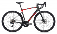 "Велосипед Giant Defy Advanced 1 28"" Charcoal / Pure Red (2020)"