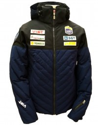 Куртка Vist Claudio Down Jacket Unisex black/deep ocean/white (S18U002)