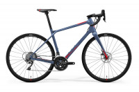 Велосипед Merida Silex 4000 matt steel blue glossy red (2021)