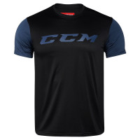 Футболка детская CCM GRIT SHORT SLEEVE TECH TOP YT BL/OB