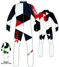 Комбинезон Vist Cyclone Junior Race Suit with Pro 1 Zip white/black/lawn (2020)