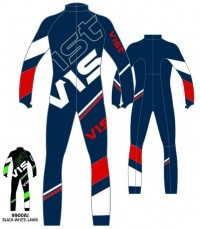 Комбинезон Vist Lighting Junior Race Suit With Pro 1 Zip black/white/lawn (2020)