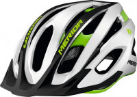 Велошлем Merida Team MTB, Glossy Team White/Green