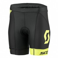 Шорты женские Scott Plasma w/pad black/neon yellow