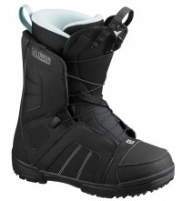 Ботинки для сноуборда Salomon Scarlet black/black/sterling blue (2020)
